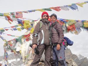 Birgit und Asal auf dem Gokyo Ri