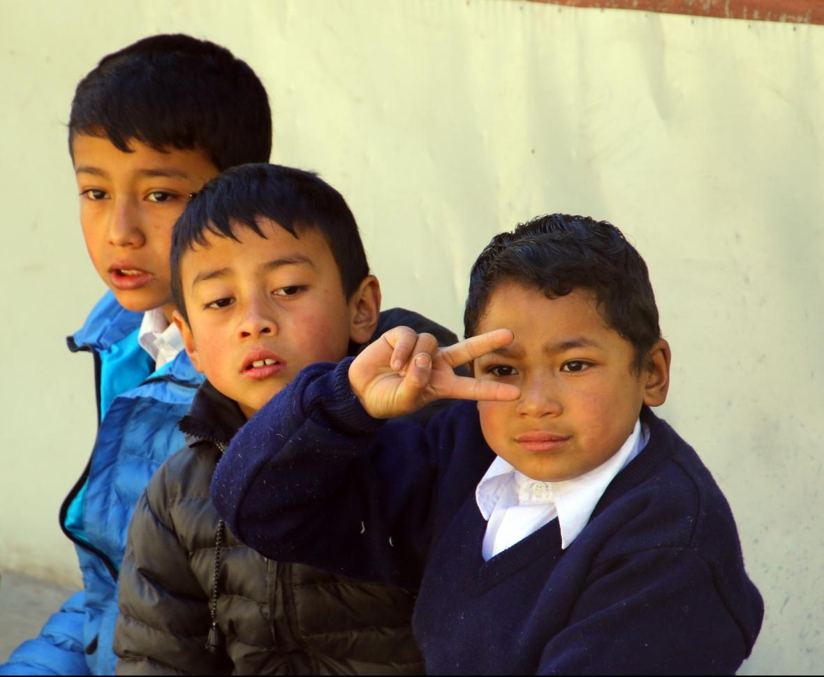 Kinder von Nepal