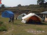Provisorischer Unterricht in Zelten