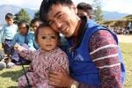 Der Mobilisation Manager von solche mit seiner Tochter