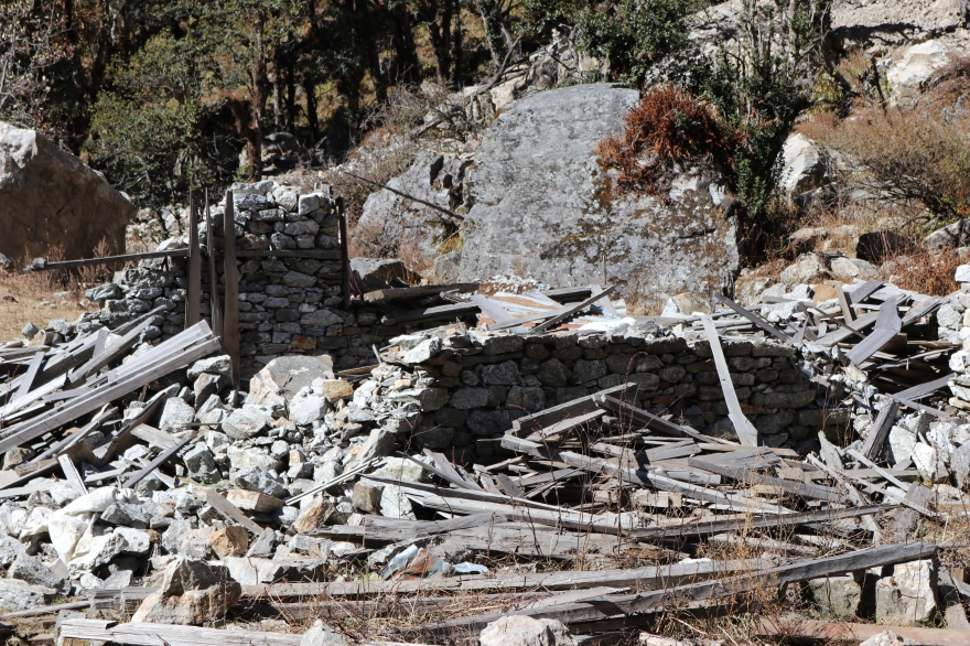 Nach dem Erdbeben