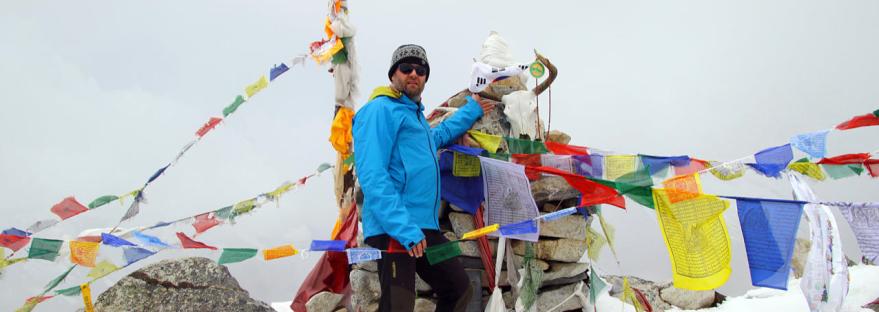 Gerhard Albicker im Langtang, Nepal